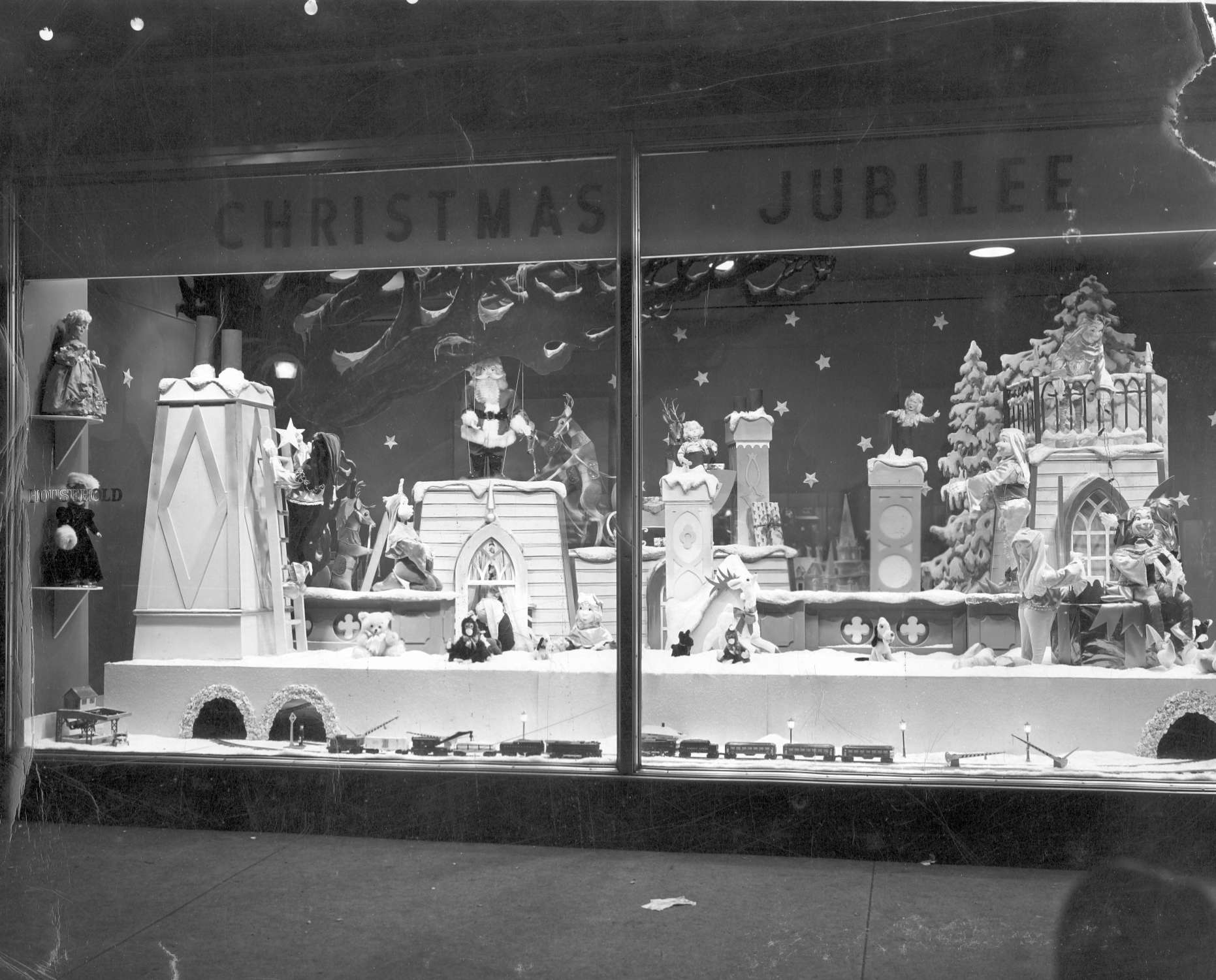 Lackawanna County Digitization Project Christmas Window